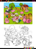 Farm animals coloring page Stock Images