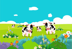 Farm animals with cows Stock Photography
