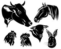 farm animals vector Royalty Free Stock Photos