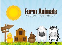 Farm animals design Royalty Free Stock Photography