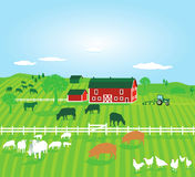 Farm with animals Stock Images