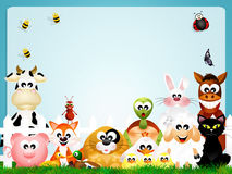 Farm animals frame Royalty Free Stock Images