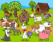 Farm animals group cartoon Royalty Free Stock Photos