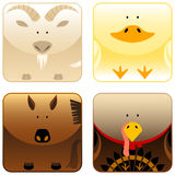Farm animals - icon set 3 Stock Image