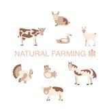 Farm animals icon set Stock Photo