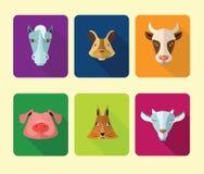 Farm animals icons. Stock Photo