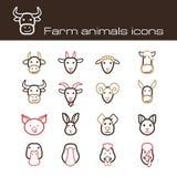 Farm animals icons. The modern farm icons set vector eps 10 Stock Photos