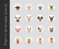 Farm animals icons Stock Image