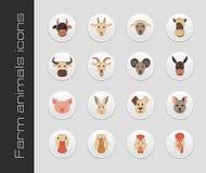 Farm animals icons. The modern farm icons set vector eps 10 Stock Image