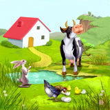 Farm Animals Illustration Stock Images