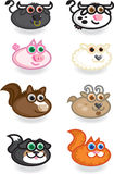 Farm Animals. Illustration icons of animals found on a farm Stock Image