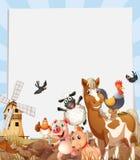 Farm animals living on farmland Royalty Free Stock Photo