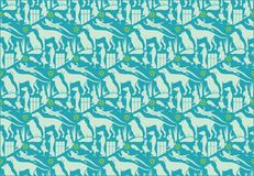Farm Animals Pattern Stock Images