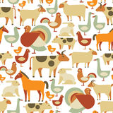 Farm animals pattern Royalty Free Stock Photo