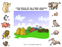 Farm Animals Quiz. Royalty Free Stock Photos
