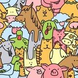 Farm animals seamless Stock Photos