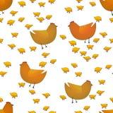 Farm animals seamless pattern on white background stock illustration