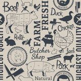 Farm Animals Seamless Pattern Royalty Free Stock Images