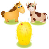 Farm animals set Stock Photo