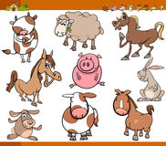 Farm animals set cartoon illustration. Cartoon Illustration Set of Funny Farm Animals Characters Royalty Free Stock Photo