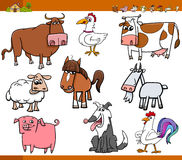 Farm animals set cartoon illustration Royalty Free Stock Image