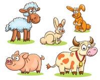 Farm animals set Royalty Free Stock Photography