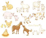 Farm animals set. Royalty Free Stock Images