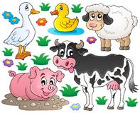 Farm animals set 1 Royalty Free Stock Photo