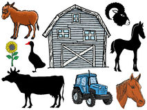 Farm animals Stock Photos