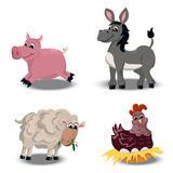 Farm animals set Stock Photos