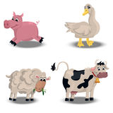 Farm animals set Royalty Free Stock Photography