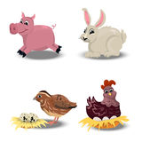 Farm animals set Stock Photography