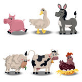 Farm animals set Royalty Free Stock Photos