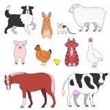 farm animals set Stock Photo
