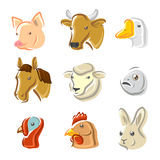 Farm animals set. Vector Stock Images