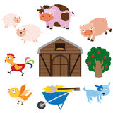 Farm Animals Set Stock Image