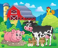 Farm animals theme image 1 Stock Image