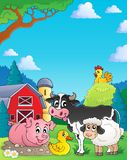 Farm animals theme image 4 Stock Images
