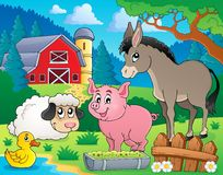 Farm animals theme image 6 Stock Images