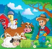 Farm animals theme image 9 stock illustration