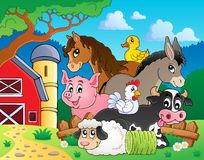Farm animals topic image 3 stock illustration