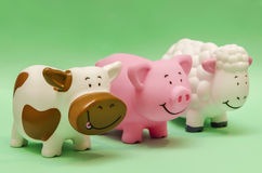 Farm Animals Toys. Farm Animals Cute Funny Toys royalty free stock photo