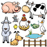 Farm Animals. Vector Illustration of Farm Animals cartoon Royalty Free Stock Photos