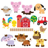 Farm animals vector illustration royalty free illustration