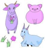 Farm animals. Vector illustration. vector illustration