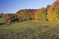 Farm in Autumn, Woodstock, Vermont Royalty Free Stock Photography