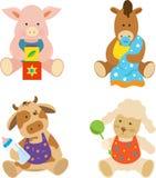 Farm Babies. Cute vector set of 4 farm animals. Eps10 royalty free illustration
