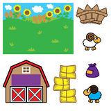 Farm Background For Animation Royalty Free Stock Photo