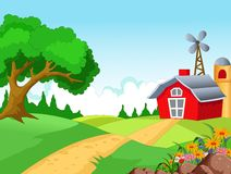 Farm background for you design Royalty Free Stock Photo