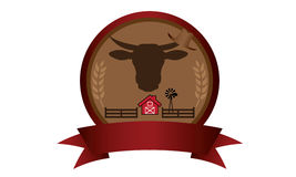 Farm badge logo Stock Photos